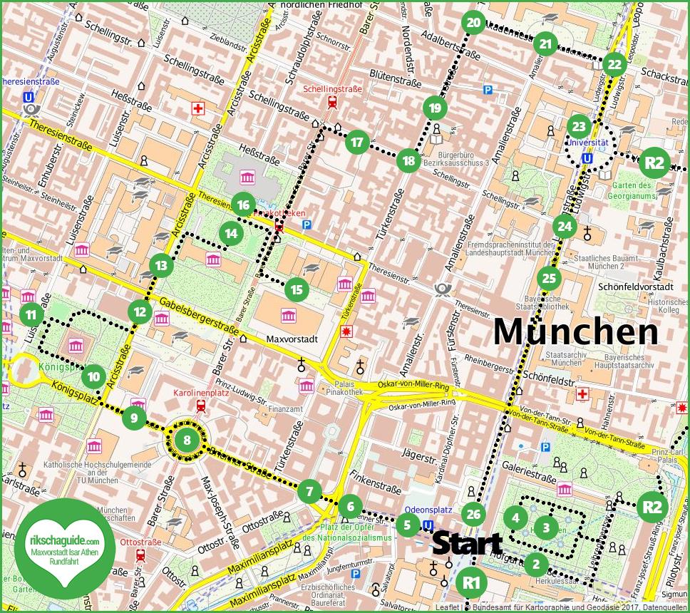 Maxvorstadt Isar-Athen Stadtführung