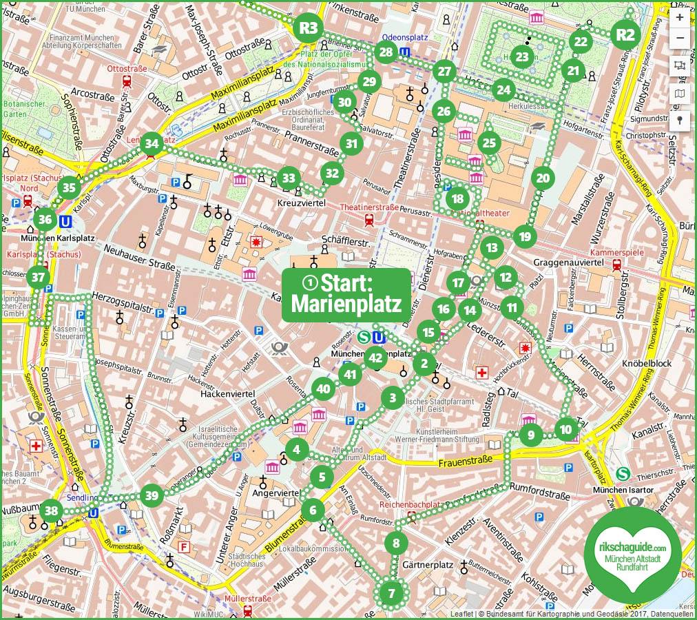 Rundfahrt mit Altstadt München Stadtführung