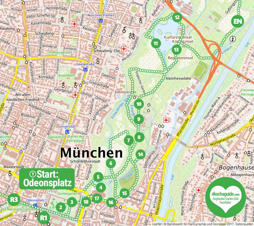rikschaguide.com | Die Münchner Rikschafahrer/-innen | Englischer Garten Süd Rundfahrt